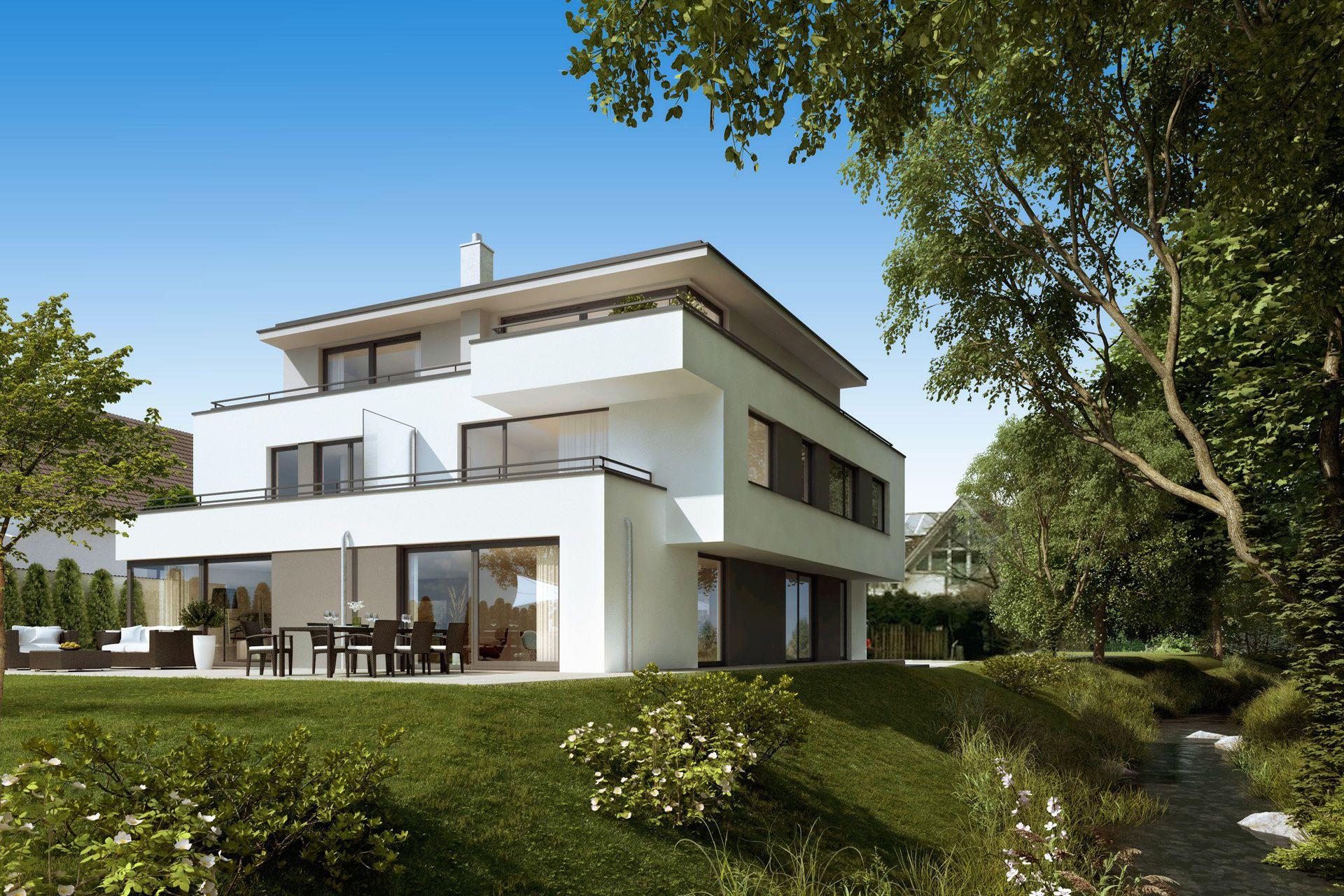 Visualisierung München wohnhaus in daglfing münchen konzept3d 3d visualisierung