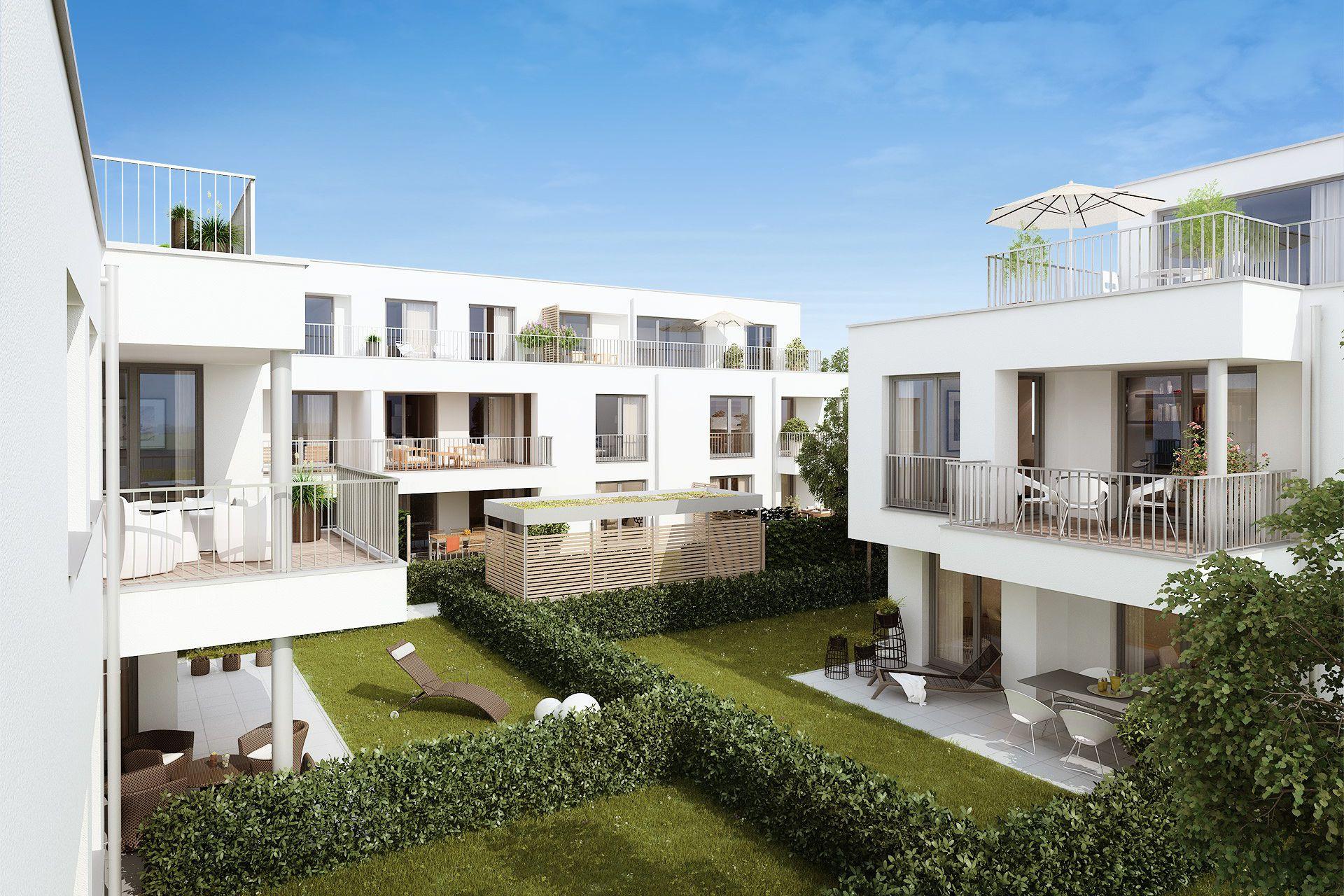 3d Visualisierung München wohnungsbau kahr straße wohngsbau kahr strasse münchen